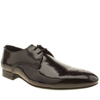 Mens H By Hudson Black St Paul 2 Eye Gibson Shoes