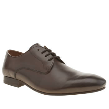 Mens H By Hudson Brown Rene Derby Shoes