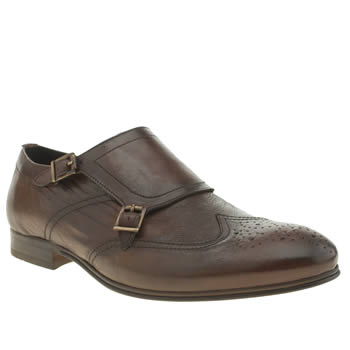 Mens H By Hudson Brown Vermont Monk Shoes