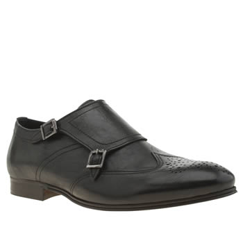 Mens H By Hudson Black Vermont Monk Shoes