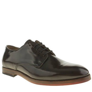 Mens H By Hudson Burgundy Hallam Derby Shoes
