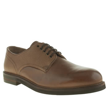 Mens H By Hudson Tan Hendred Mix Derby Shoes