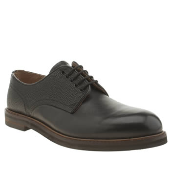 Mens H By Hudson Black Hendred Mix Derby Shoes