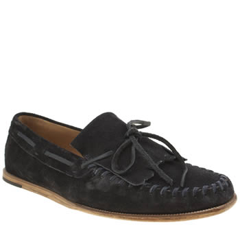 H By Hudson Navy Rio Fringe Loafer Shoes