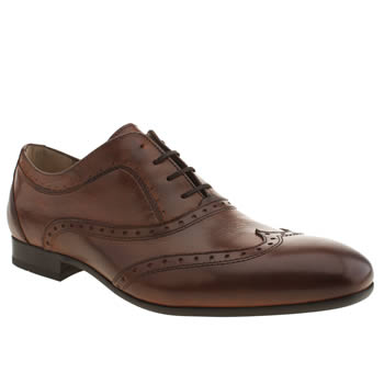 Mens H By Hudson Tan Rene Oxford Brogue Shoes