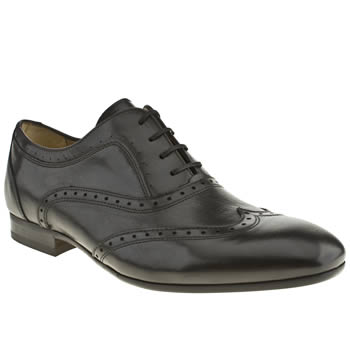 Mens H By Hudson Black Rene Oxford Brogue Shoes