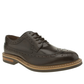 Mens Red Or Dead Dark Brown Mr Renton Long Wing Shoes