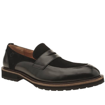 Peter Werth Black Turnmill Penny Loafer Shoes