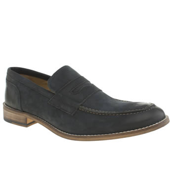 Mens Ikon Navy Marner Penny Loafer Shoes