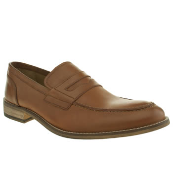 Mens Ikon Tan Marner Penny Loafer Shoes