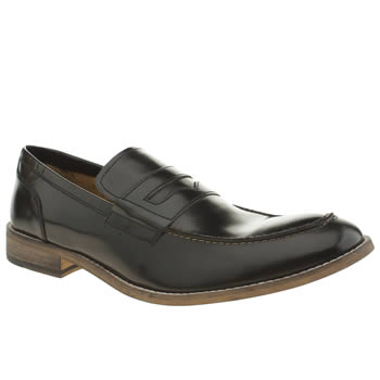 Mens Ikon Black Marner Penny Loafer Shoes