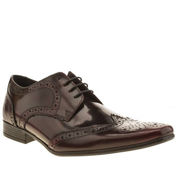 Ikon Burgundy Hugo Wing Brogue Shoes