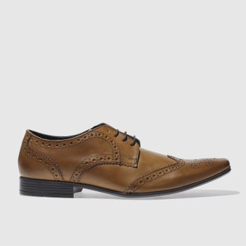Mens Ikon Tan Hugo Wing Brogue Shoes