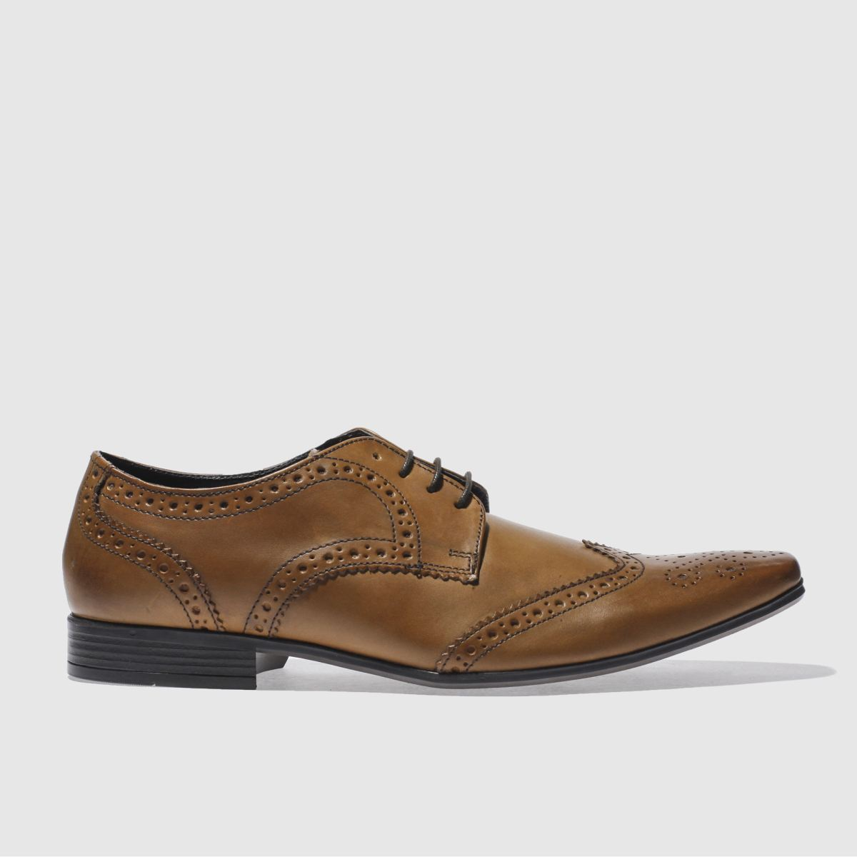 Ikon Ikon Tan Hugo Wing Brogue Shoes