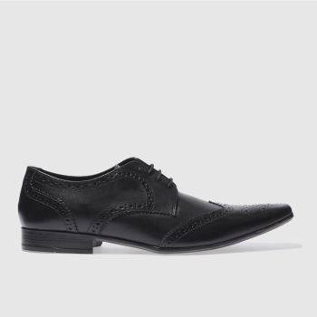 Mens Ikon Black Hugo Wing Brogue Shoes