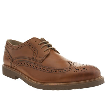 Mens Ikon Tan Walnut Brogue Shoes