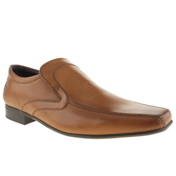 Mens Ikon Tan English Tram Slip Shoes