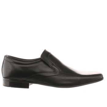 Mens Ikon Black English Tram Slip Shoes