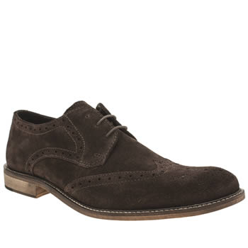 Ikon Dark Brown Poster Pace Brogue Shoes