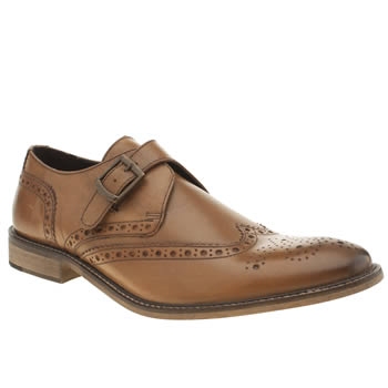 Mens Ikon Tan Poster Monk Shoes