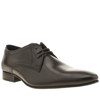 Mens Ikon Black Turin 3 Eye Shoes