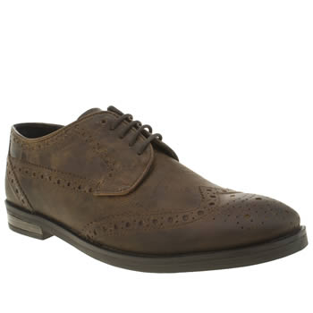 Ikon Brown Funk Brogue Shoes