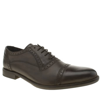 Ikon Brown Hold Cap Oxford Shoes