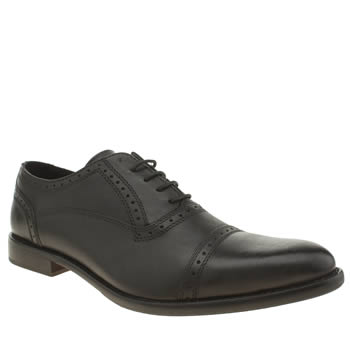 Ikon Black Holdcap Oxford Shoes