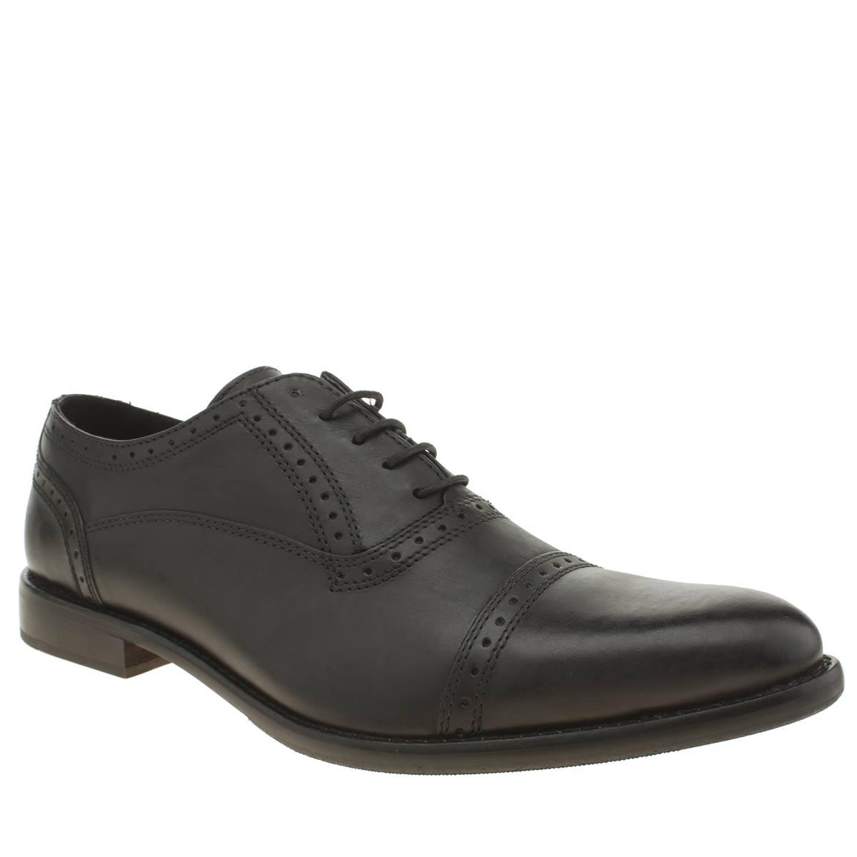 Ikon Ikon Black Holdcap Oxford Shoes