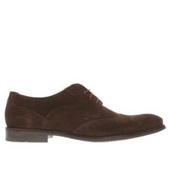 Mens Ikon Dark Brown Poster Brogue Shoes