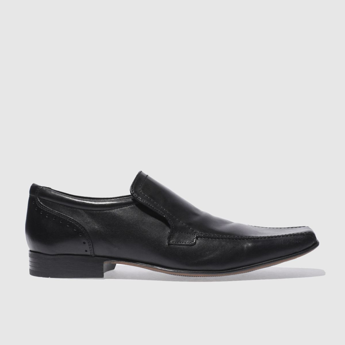 ikon black english ii slip shoes