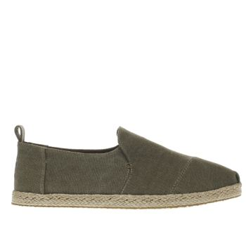 Toms Khaki Deconstructed Alpargata Mens Shoes