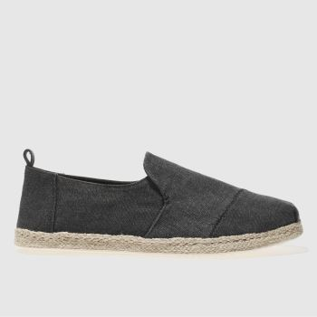 Toms Black Deconstructed Alpargata Mens Shoes