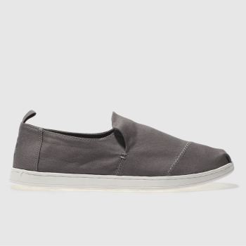 Toms Grey Deceonstructed Alpargata Mens Shoes