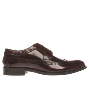 Ikon Burgundy Nottingham Brogue Shoes