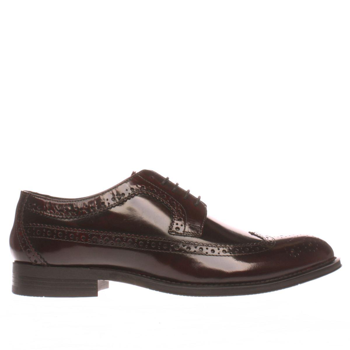 Ikon Ikon Burgundy Nottingham Brogue Shoes