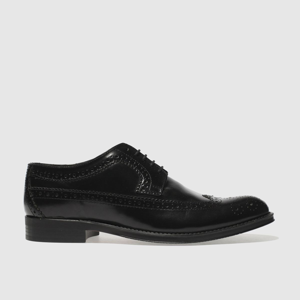 ikon black nottingham brogue shoes
