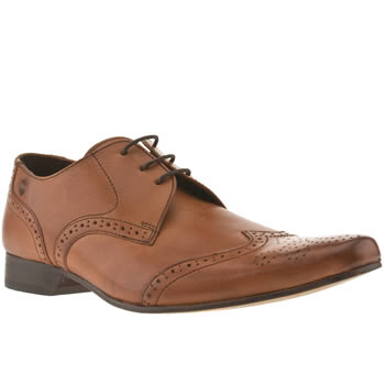 mens ikon tan spencer wing brogue shoes