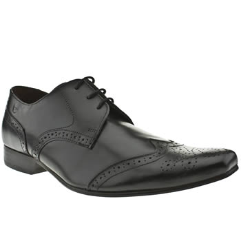mens ikon black spencer wing brogue shoes