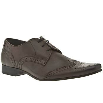 mens ikon grey spencer wing brogue shoes