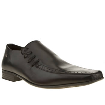 Mens Ikon Black English Side Lace Shoes