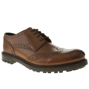 mens ikon tan terie gibson brogue shoes