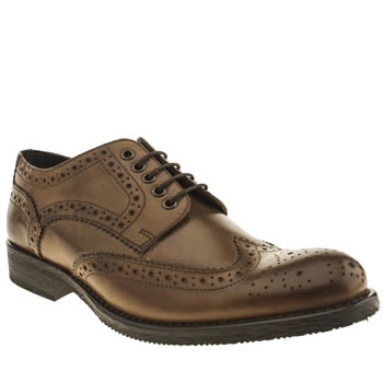 Ikon Brown Officer Brogue Shoes