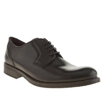 mens ikon black officer plain toe shoes