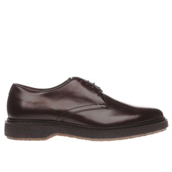 RED OR DEAD BURGUNDY MR MORGAN PLAIN DERBY SHOES