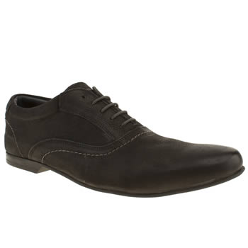 Base London Black Galaxy Oxford Mens Shoes