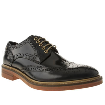 Base London Blue Manor Brogue Shoes