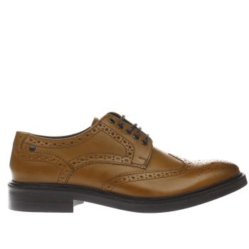 Base London Tan Manor Brogue Shoes