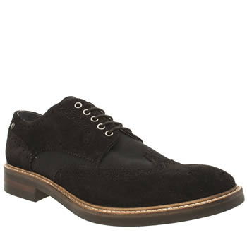 Base London Black Manor Brogue Mix Shoes