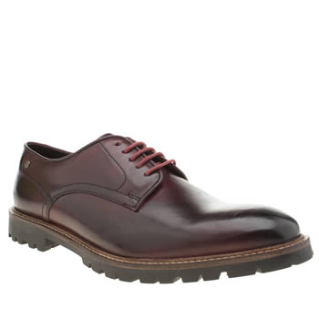 Base London Burgundy Barrage Mens Shoes
